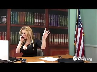 Sara Jay Has Her Pussy Pounded On Her Desk