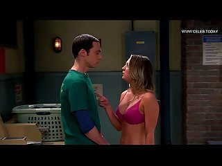 Kaley cuoco flashes her bra big boobs the big bang theory s07e11 2013