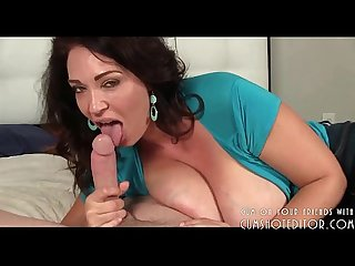 Stepmother knows how to drain cock
