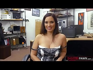 Beautiful and milf sophie leon sells a weapon and gets hammered
