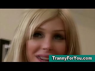 A beautiful blonde transsexual