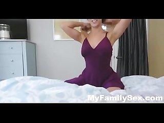 Horny big tit mom fucks panty sniffing stepson myfamilysex com