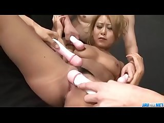 Yuno shirasu receives cock in each of her shaved holes