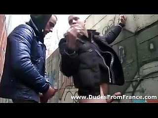 Two horny gay studs in outdoor cock hungry fun