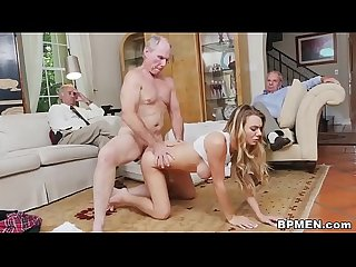 Molly mae fucks grandpas for money