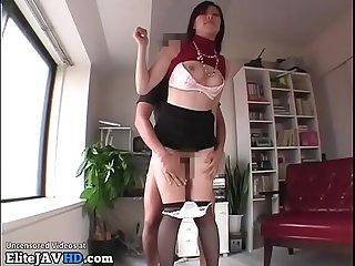 Japanese secretary in pantyhose fucked by boss more at elitejavhd com