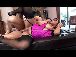 Raylene fucked in a corset and stiletto heels