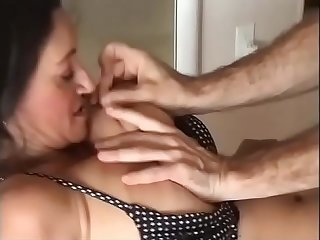 Slut milf loves to be groped and slammed
