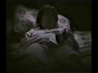 My horny mum fingering on bed reading a book. Hidden cam