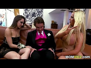 Prom Night 3some with Remy LaCroix and stepmom Nikki Benz