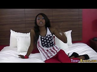 Ebony teen gets screwed