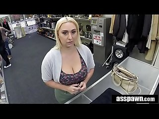 Real backroom sex thick beauty riley knight tricked at pawn shop