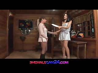 trans500 Shemale fucks a girl with a delight-watch more at shemalecam24.com