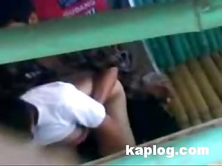 Melayu cute teen caught fucking in public