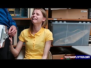 Skinny teen shoplyfter catarina petrov sob and slob knob