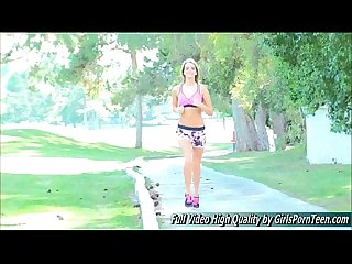 Kenna porn blonde xxx show jogging golf course