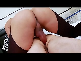 Sexy lingerie and beautiful tranny fucking guy