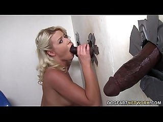 Anikka albrite sucks and fucks bbcs gloryhole