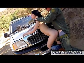 Fake cop blonde outside xxx BP caught her, so she deepthroated the