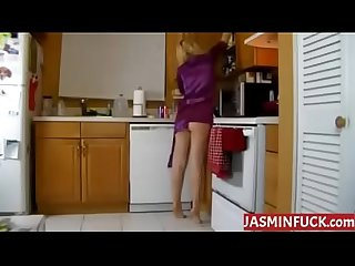 Humping mom in the kitchen more videos on jasminfuck com