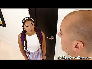 Latina teen sitter jizzed