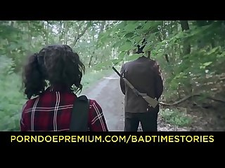BADTIME STORIES - Torture Halloween story in the forest with German teen Khadisha Latina