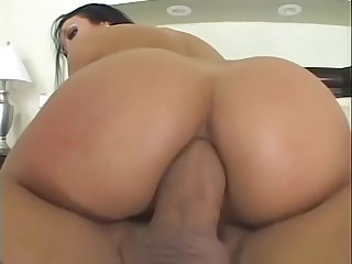 Latina slut in red lingerie Maya Gates gets her asshole drilled big cock on the sofa