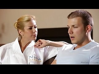Ultra shy guy enjoys nuru massage with alexis fawx codey steele