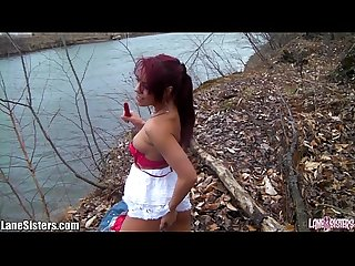 Shana lane S striptease at the park