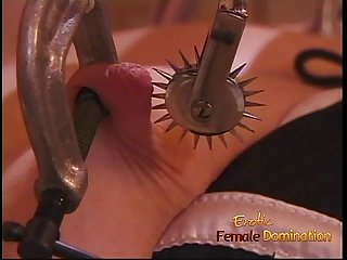 Hot brunette slut gets fisted hard by her kinky dominatrix