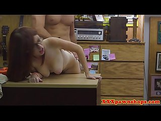 Teen pawnshop spex amateur sucks after riding