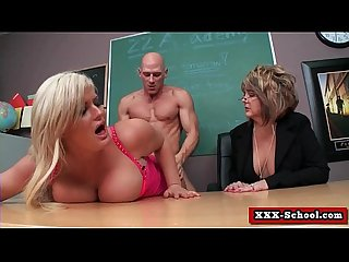 Busty teacher fucked at school 17