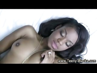 Ebony nasty teen gets fucked