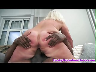 Amateur european grandma banged interracially