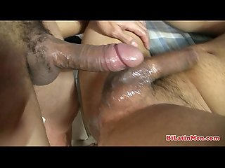 Hung Latino barebacking his hungry bottom