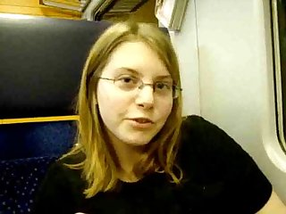 19 years old german teen masturbates in train