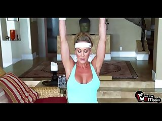 Brandi love screams shouts as her gym lover rams her milf cunt milfymom com