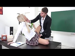 FuckStudies.com - Karolina - Blonde babe gets help and orgasm
