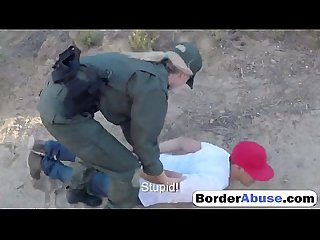 Two young sluts fuck in hot threesome with border patrol agent0p 1