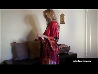 Ultimate milf Julia ann is stripping trying on lingerie