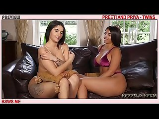 Briitsh Twins Preeti and Priya boob and ass tease music mix more at their website