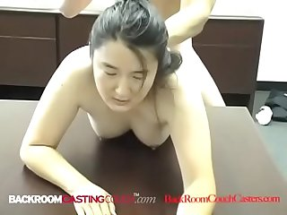 19 yo Oriental JayLynn Gets Her Mouth Fucked, Anal Pounded & Cummed On!