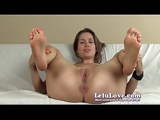 Spreading my pussy and asshole with lots of feet and soles JOI