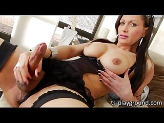 Alluring shemale goddess ana clara puts up an awesome masturbation show