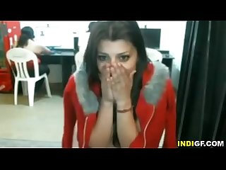 Indian girl gets naked in internet cafe