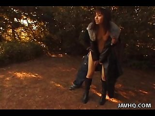 Kinky outdoor asian bondage action