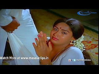 Actress radha jacket and bra tears hot video