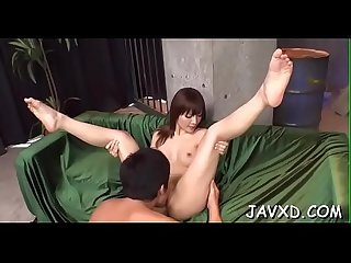 Playgirl from asia gets pussy stimulated by tireless vibrator