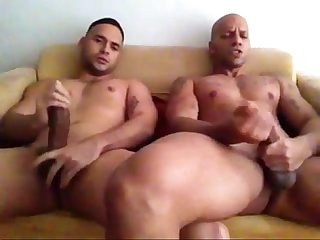 str8 friends jerking together watching porn