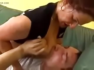 Rough sex to a horny Mature